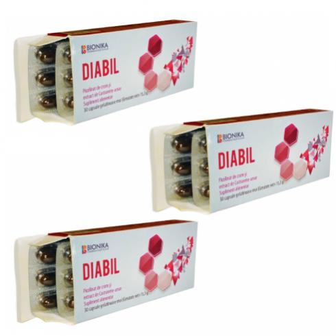 DIABIL®, Oferta 3 cutii - Supliment alimentar