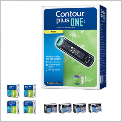 Glucometrul inteligent Contour plus ONE GRATUIT la 200 de Bandelete de testare (4 cutii) + 100 de Ace Microlet (4 cutii)
