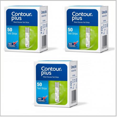 Bandelete de testare 3 cutii x 50 buc. (Compatibile cu dispozitivele Contour™ Plus si CONTOUR™PLUS ONE)