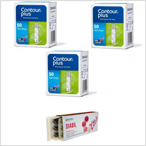 Oferta Bandelete de testare 3 cutii x 50 buc + 1 cutie Diabil gratuit