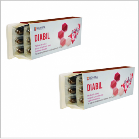 DIABIL® 30 capsule - Oferta: 1 cutie Diabil cumparata + 1 cutie Diabil gratuit