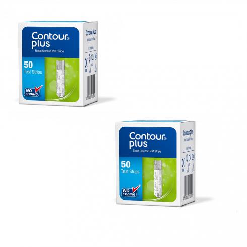 Bandelete de testare 2 cutii X 50 buc. (Compatibile cu dispozitivele Contour™ Plus si CONTOUR™PLUS ONE)