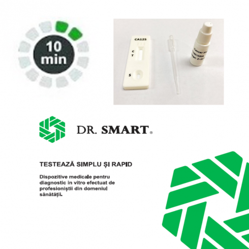 Test rapid marker tumoral CA125 - casetă (sânge integral/ser/plasmă) - kit cu 10 teste