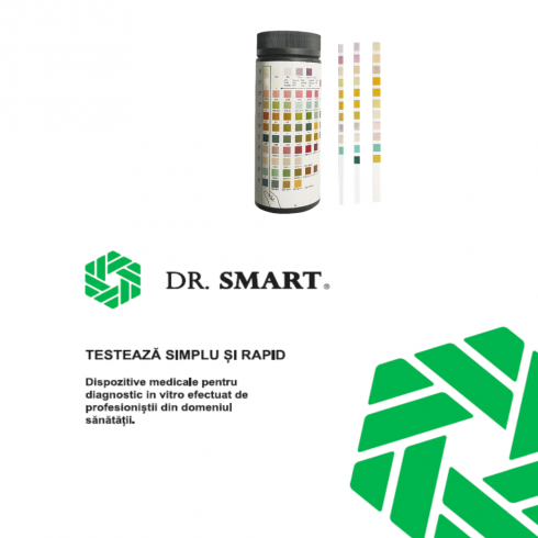 Test rapid sumar urină 10 parametri - kit cu 100 benzi-test