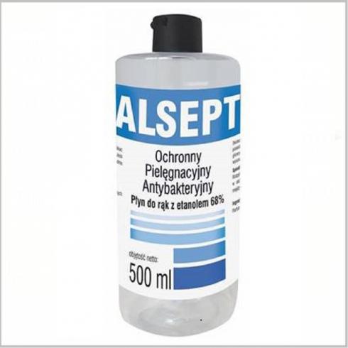 Dezinfectant maini Alsept cu 68% ethanol - 0,5L