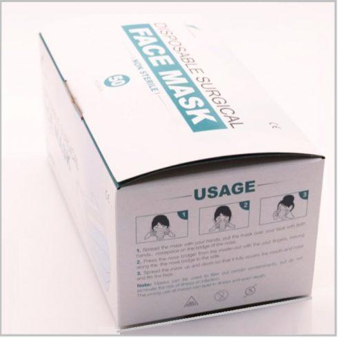 Masti chirurgicale 3 straturi (cutie cu 50 buc)