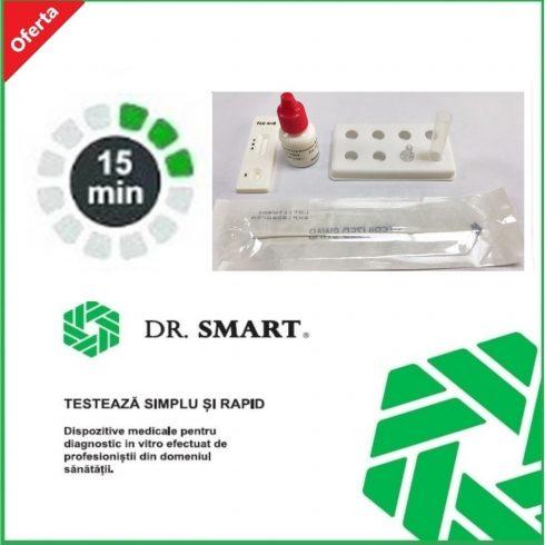 Test rapid Influenza A+B - casetă (exsudat faringian, aspirat nazal) - kit cu 20 de teste