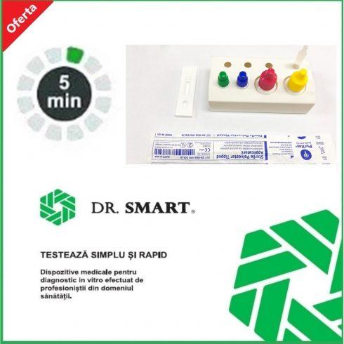 Test rapid Streptococ A - casetă (exsudat faringian) - kit cu 20 de teste