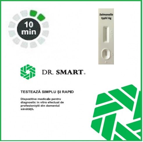 NOU! Test Rapid Antigen Salmonella typhi  - casetă  (materii fecale) Kit cu 25 casete test