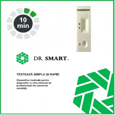 NOU! Test Rapid Campylobacter - casetă  (materii fecale) Kit cu 10 casete test