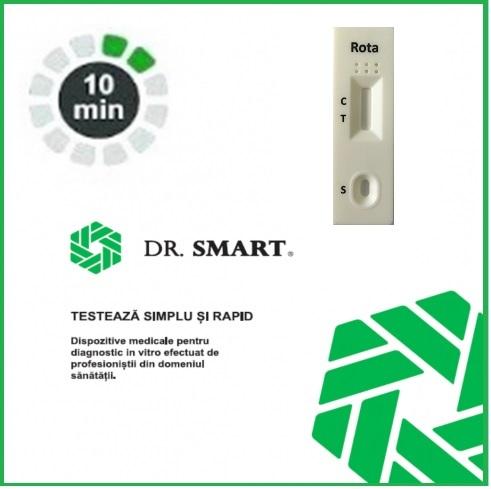 NOU! Test Rapid Rotavirus - casetă  (materii fecale) Kit cu 25 casete test