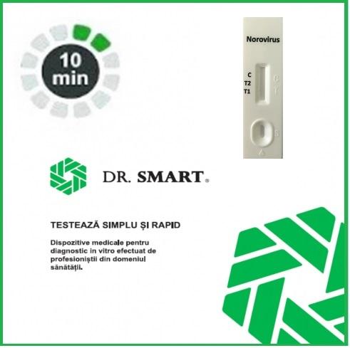 NOU! Test Rapid Norovirus - casetă  (materii fecale) Kit cu 10 casete test