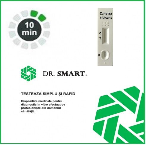 NOU! Test Rapid Candida albicans - casetă (secreții vaginale) Kit cu 10 casete test