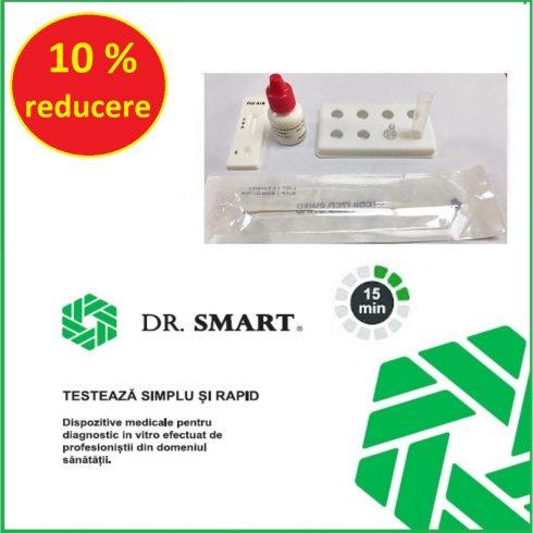 Test Rapid combo Antigen Covid-19 si Influenza A+B. Kit 20 teste