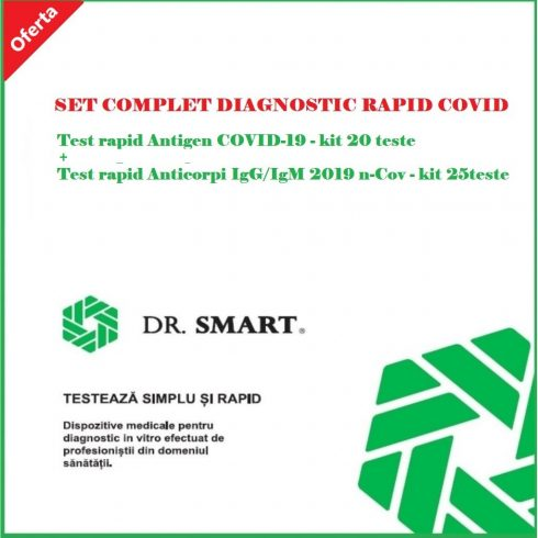 Reducere 10%! SET COMPLET DIAGNOSTIC RAPID COVID