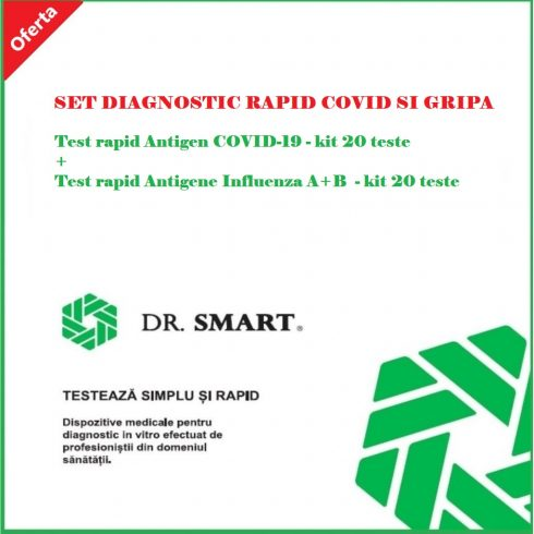 Reducere 10%! SET DIAGNOSTIC RAPID COVID SI GRIPA