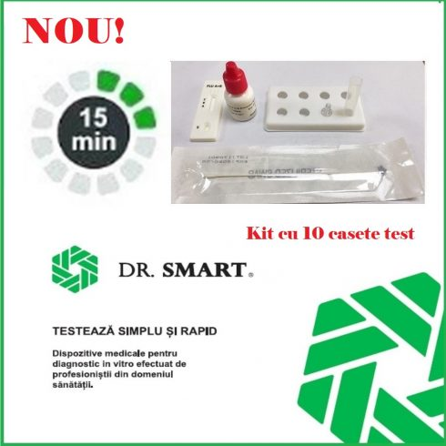 NOU! Test rapid antigen COVID-19 – Kit cu 10 casete test