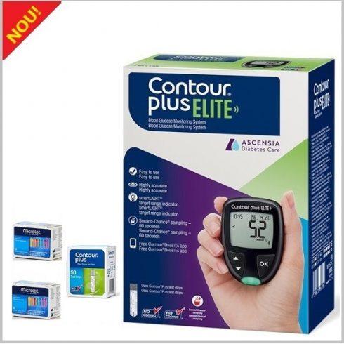 NOU! Glucometrul CONTOUR®PLUS ELITE + Bandelete 1 cutie x 50 +50 ace