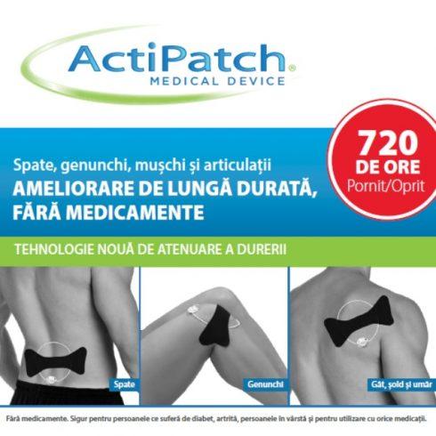 ActiPatch – terapie avansată a durerii osteoarticulare & musculare