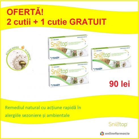 Oferta SniZtop® 2 cutii + 1 cutie GRATUIT