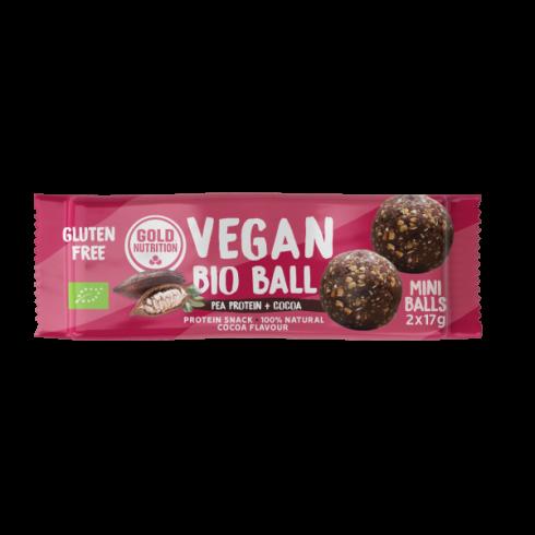 Bile vegane bio mini cu proteina din mazare si cacao, 2 x 17 g