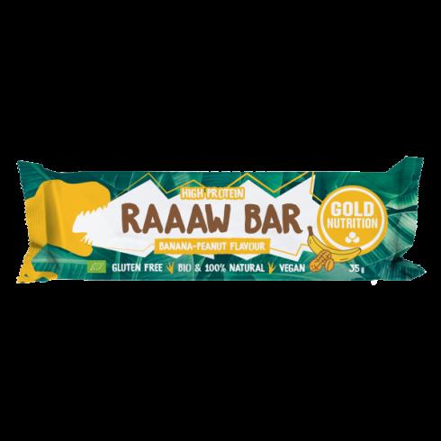GoldNutrition Baton bio Raaaw bar Banane și arahide 35 gr