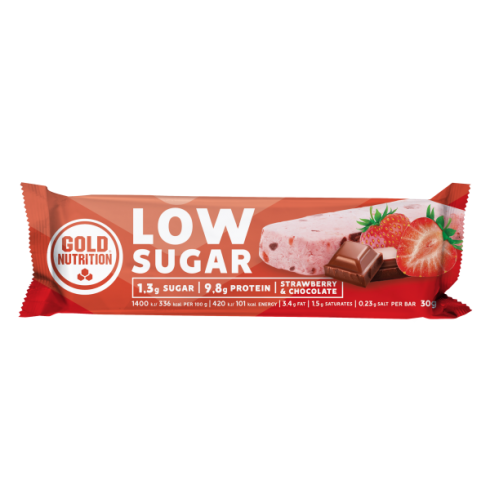 GoldNutrition Protein Bar Low Sugar capsuni si ciocolata 30gr