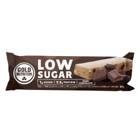 GoldNutrition Protein Bar Low Sugar ciocolata neagra 30 gr
