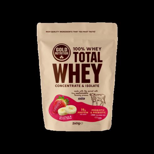 GoldNutrition Total Whey capsuni si banane 260gr