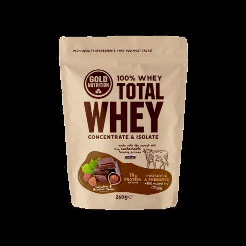 GoldNutrition Total Whey ciocolata si alune 260gr