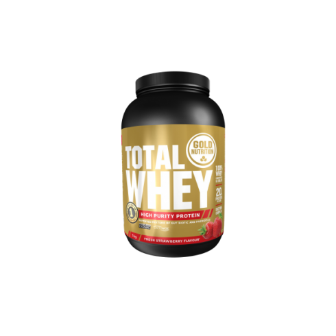 GoldNutrition Total Whey Protein capsuni 1kg