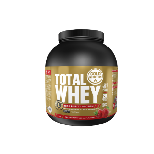 GoldNutrition Total Whey Protein capsuni 2kg