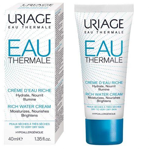 EAU THERMALE Crema hidratanta textura bogata 40ml + Cadou pos Eau thermale masca de ochi + mini Eau thermale masca de noapte 15 ml