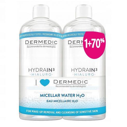 DERMEDIC Promo HYDRAIN3 HIALURO Apa micelara H2O 500ml*2
