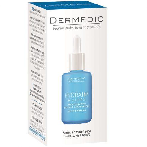 DERMEDIC HYDRAIN3 HIALURO ser hidratant pentru fata, gat si decolteu 30ml