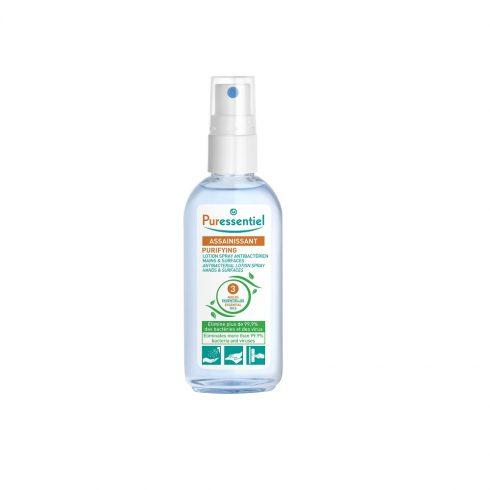 PURIFYING - Lotiune spray antebacteriana pt. maini cu 3 uleiuri esentiale 80 ml