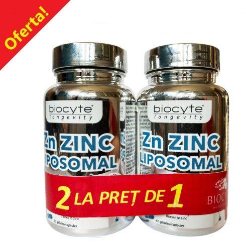 OFERTA 2 la pret de 1 - BIOCYTE ZINC LIPOZOMAL 60 CPS